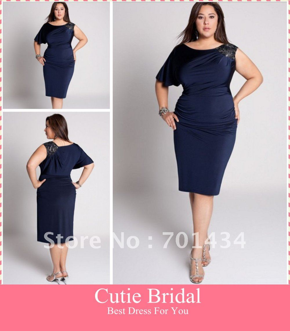30666ce185c Navy Plus Size Special Occasion Dress - Gomes Weine AG