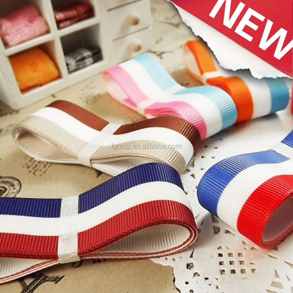 Striped 3 inch wholesale Grosgrain Ribbon