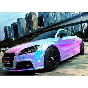 holographic rainbow film chrome foil for car wrap vinyl 1.35*20m air free bubbles