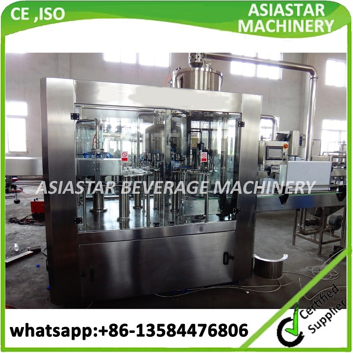 Newest automatic 3 in 1 small scale water bottling machines for turn key project
