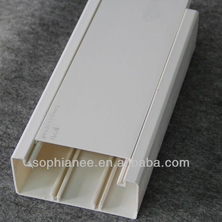 plastique pvc chemin de c bles avec compartiment goulotte de c blage id de produit 699179652. Black Bedroom Furniture Sets. Home Design Ideas