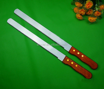 "12"" Wooden Handle Stainless Steel Bread blade knife"