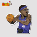 Bevle 9351 NBA Bastetball Super Star Chris Webber Waterproof Stickers Laptop Luggage Fridge Car Graffiti Cartoon