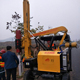 Hydraulic piling rig road barrier pile driver