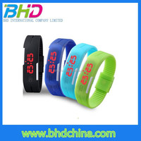 2015 new arrival fashion sport led watches candy color unisex silicone led watch waterproof bracelet wristwatch