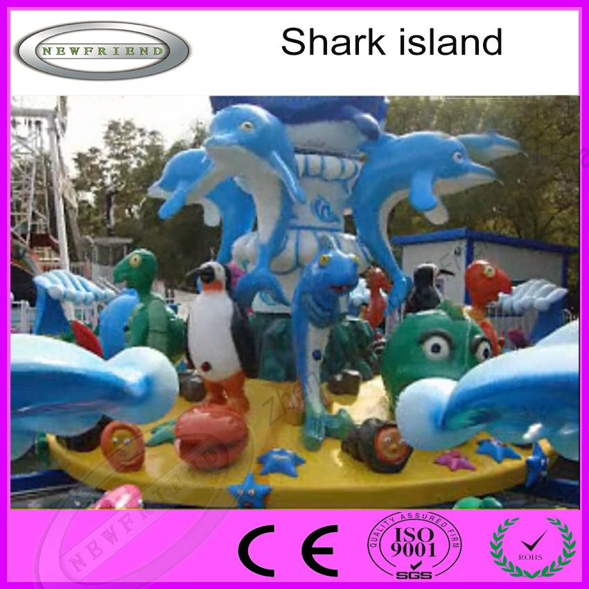 Manufacturer China Amusement Rides Water Kids Game Fight Shark Island For Sale