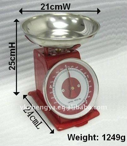 Promotional talking stainless steel mechanical kitchen scale