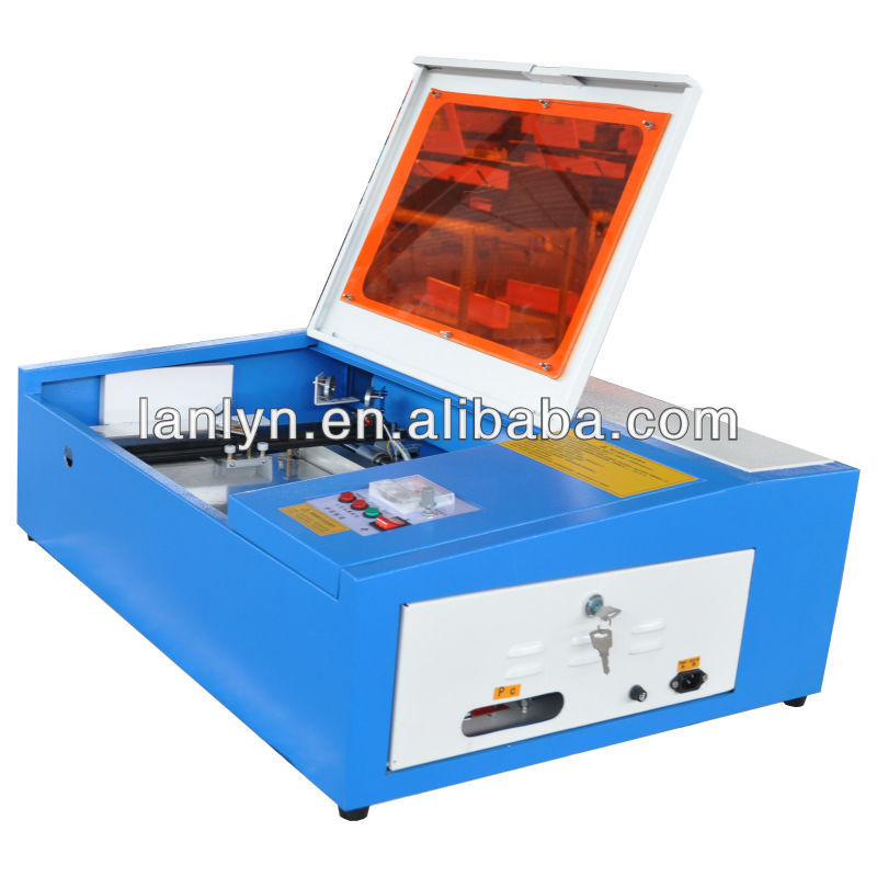 Mini rubber stamp cutting machine, Co2 wood crystal laser engraver
