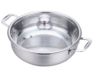 Factory wholesale food grade stainless steel non-stick hot pot soup pot cooking pot