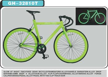 700c Green Glow In Dark Fixie Bikes  Fixed Gear Bike,Colorful Fixie Bike -  Buy Fixed Gear Track Bike,Carbon Fixed Gear Bike,Aero Fixed Gear Bike
