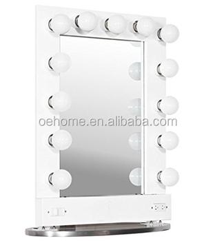 Broadway Lighted Vanity Mirror Gloss Black : Broadway Lighted Vanity Mirror (gloss White,36.25