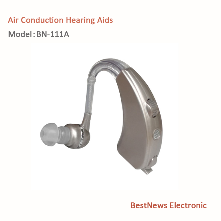 Air conduction hearing aids rechargeable body worn hearing aid