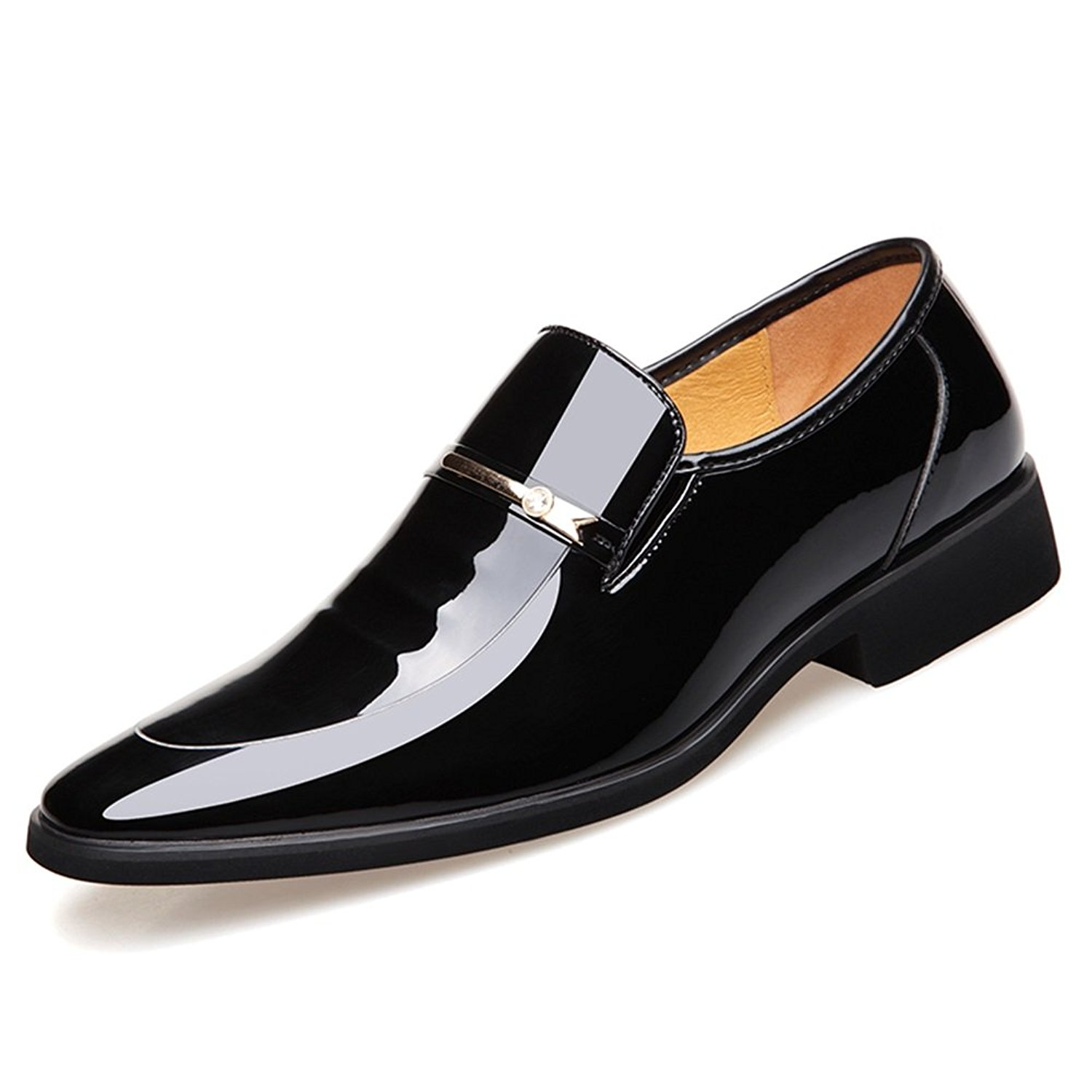 Huanhuan Men's Shoes Microfiber 2018 New Pointed Toe Glisten Wedding Shoes Spring Fall Formal Shoes Oxfords Business Shoes Black, Brown