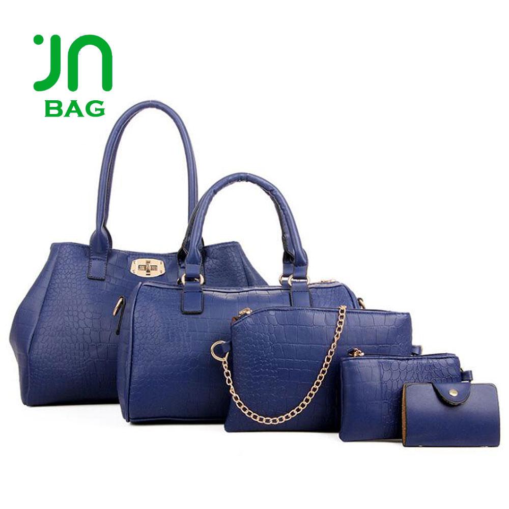 ce35e322b7ead JIANUO European fashion ladies trendy shoulder bag set cross handbag 5 in 1