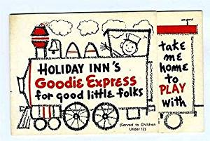 Holiday Inn Goodie Express Train Kids Menu For Good Little Folks