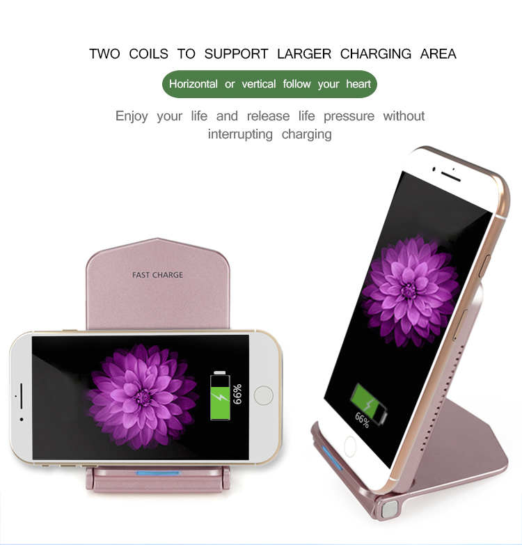 Amazon best seller universal qi standard inductive quick charging cell phone charger stand devices for any phone