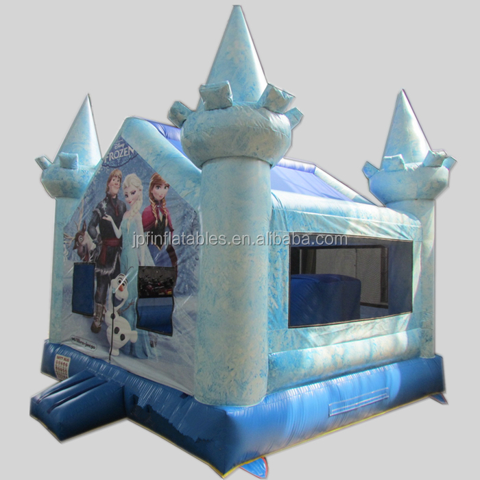 Kids Snow princess inflatable mini castle for girls