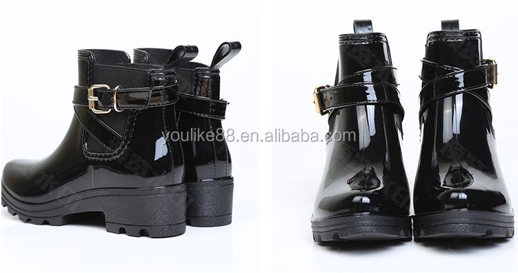 YL6303 High Heel  Elastic Gores Ladies Jodhpur Body Garden Shoes  Ladies Jodhpur boots