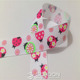 1 inch Ladybird & Flowers Grosgrain Printed Ribbon