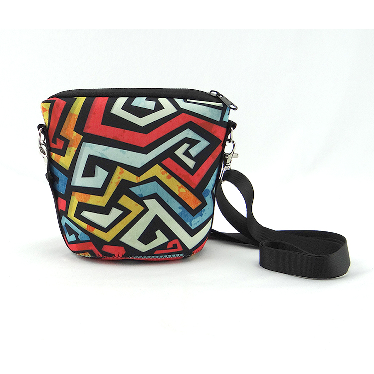Pattern casual neoprene cross body bag for lady