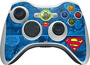 DC Comics Superman Xbox 360 Wireless Controller Skin - Superman Logo Vinyl Decal Skin For Your Xbox 360 Wireless Controller