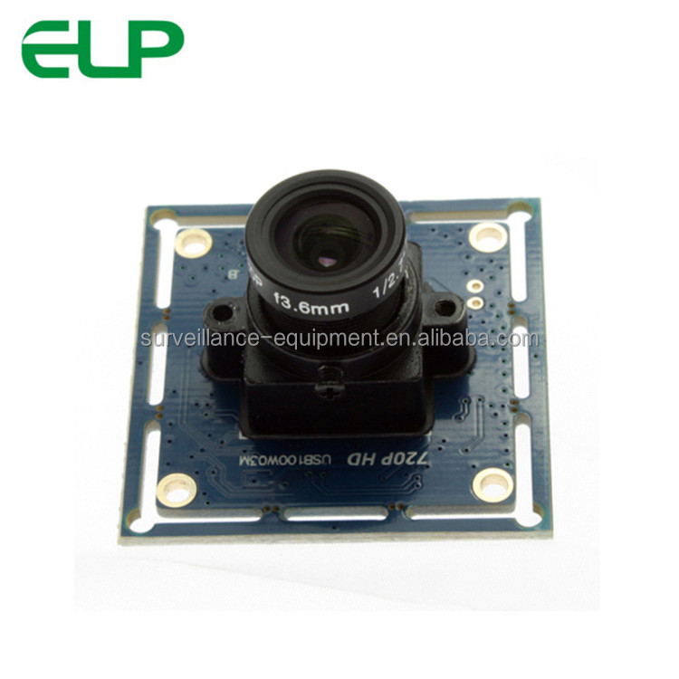 ELP 1mega pixel 720P 30fps micro endoscope driverless usb camera module hd with OTG function
