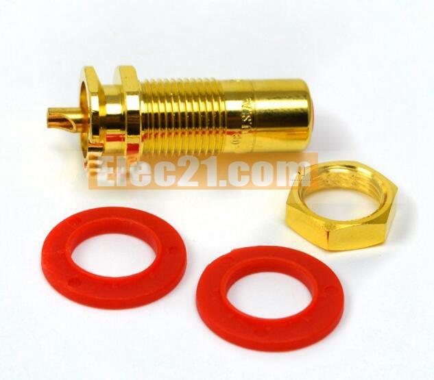 Set of 4 Quality CMC Gold Plated Speaker Binding Post SHORT #CMC-838-S-G
