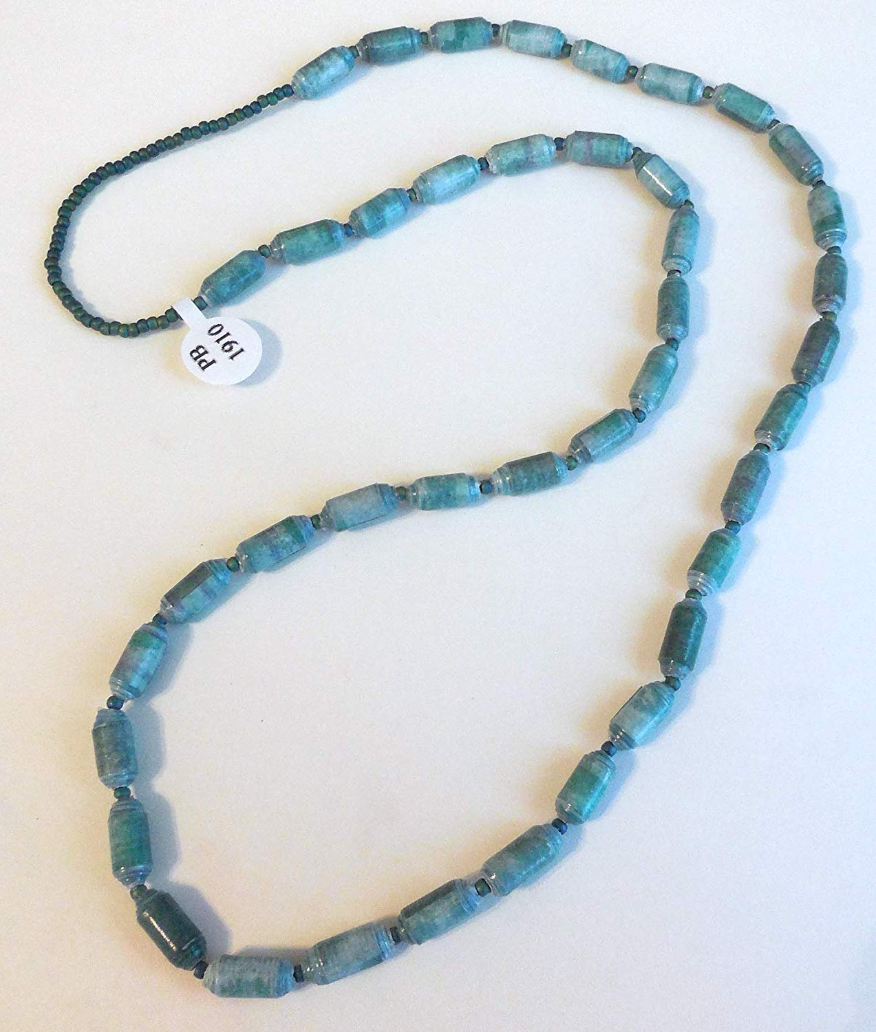Paper Bead Necklace Handmade PB 1910