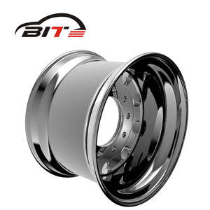 Factory price polishing aluminum truck aftermarket alloy wheel SIZE 22.5X13 ET -14