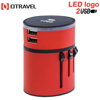 Custom LED logo charger 5v 3a travel adapter fashion universal travel adaptor china for samsung