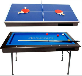 KBL 296 4ft Table Tennis Table, 3 In 1 Multi Game Table, Foldable