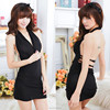 Backless Sexy Baby Doll Lingerie Black Nightwear China Factory Price