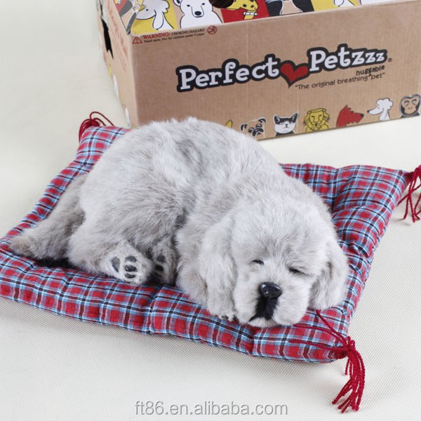 handmade craft sleeping perfect petzzz dog made in china