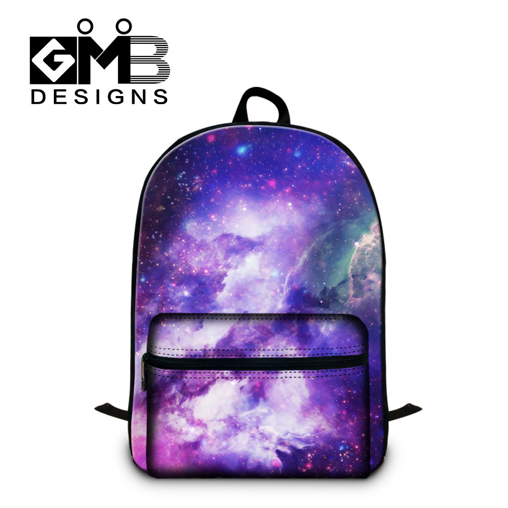 Galaxy Star Universe Space Cotton Laptop Computer Backpack Kids School Bags  (6) 0820d82d19904