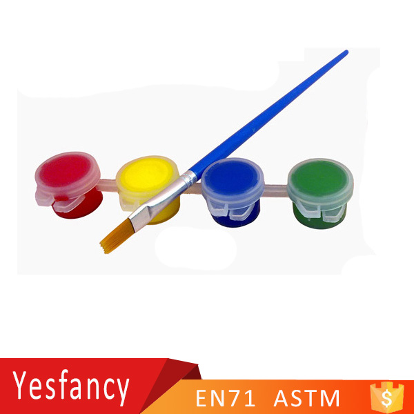 newest 4 strip paint pots 10ml with brushes acrylic paint strips