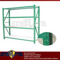 green metal frame white 4 panels lightweight food display shelves/adjustable 3 layers custom iron storage rack