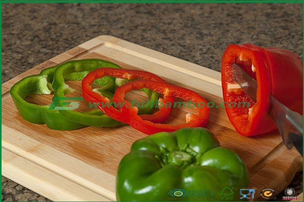 Bamboo cutting Board--The better butchers block for carving fruits, meat & vegetables