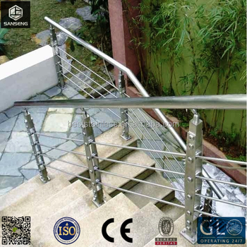 Foshan Wire Rope Deck Railing / Wire Mesh Railings / Outdoor Stainless  Steel Cable Railing