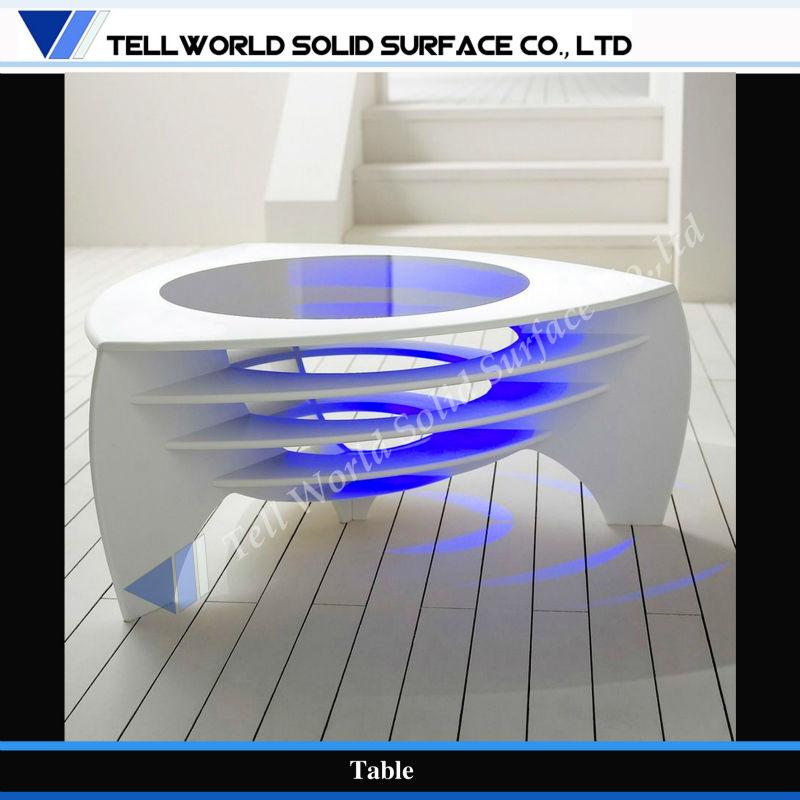 Fancy Acrylic Solid Surface Modern Coffee Table Led Lighted End Table   Buy  Led Light Coffee Table,Modern Coffee Table Lighted End Tables,Solid Surface  ...