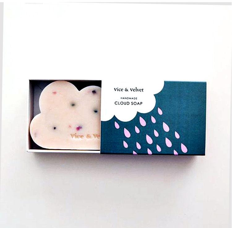 Toptan Eco-dostu Logo Baskılı Özel Sabun Karton Kraft Kutuları Kağıt sabun ambalajı Kutuları