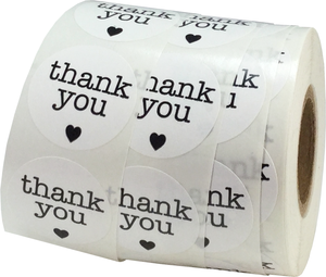New Style Adhesive Kraft Label Thank You Sticker
