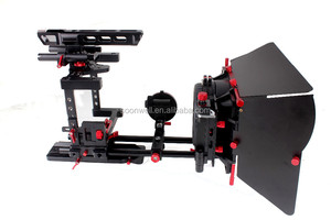 Professional DSLR Video Camera Rig Kit Top Handle Matte Box Follow Focus For Sony