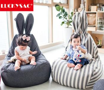 new premium rabbit shape kids bean bag chair child bean bag toy for sale