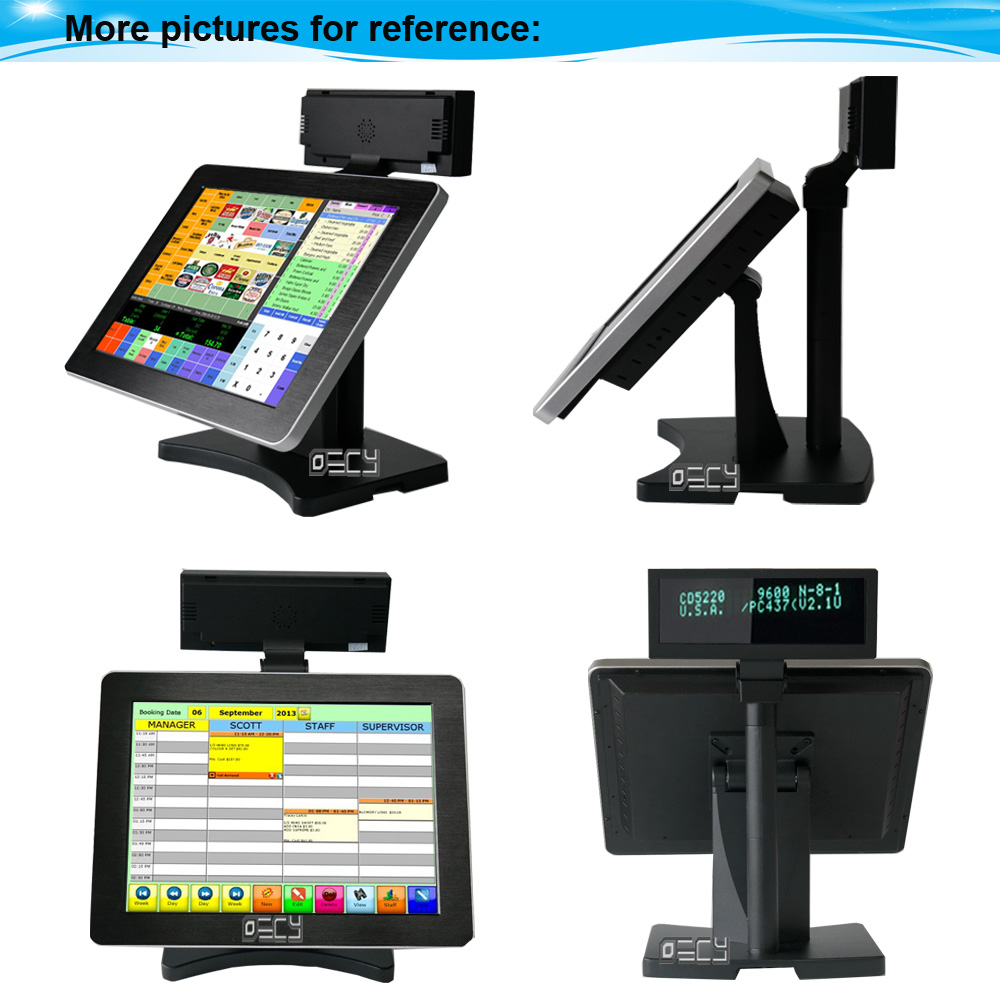 Cashier Register Pos Printer Touch Screen Computer Single Desktop Terminal Retail Store Metal All In One Pc
