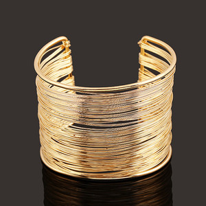 High quality cuff iron wire braided bracelet for sale