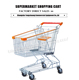 Changshu carts display used wire push carts supermarket rack and trolley
