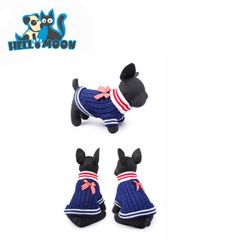 Navy Style Easy Knit Dog Sweater Pattern Free For Small Pet Dogs Clothes View Dog Sweaters For Small Dogs Hellomoon Product Details From Hangzhou