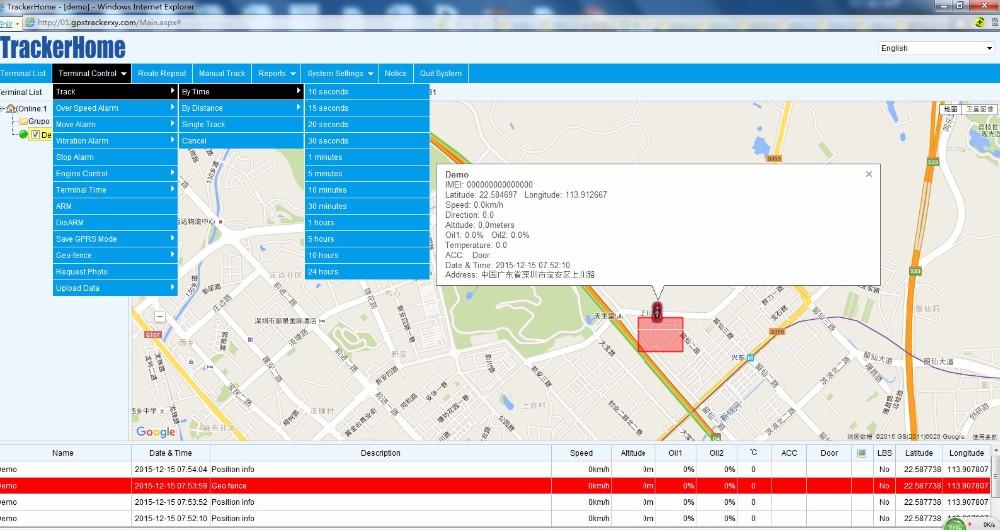 Google Map Gps Tracker Tk103b With Shock Sensor Amp Fuel