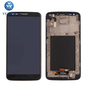 "5.2"" Black Screen Asseambly Spare Parts LCD For LG G2 F320 LCD Touch Screen Digitizer With Frame"