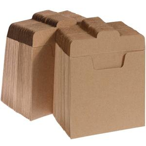 "Blank Kraft CD DVD Sleeves Paper Envelopes 5"" x 5"""